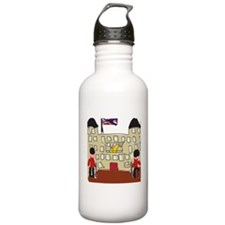 HM Queen Elizabeth at Buckingham Palace Sports Water Bottle