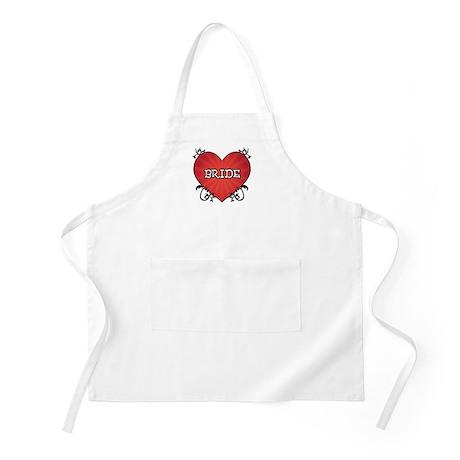 Tattoo Heart Bride Apron