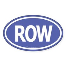 ROW Oval Decal
