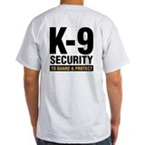 k-9 Dog Handler T-Shirt Security Guard