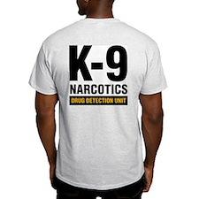 k-9 Dog Handler T-Shirt Narcotics Drug Detection