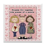 Friends Fit Together Keepsake Tile Coaster