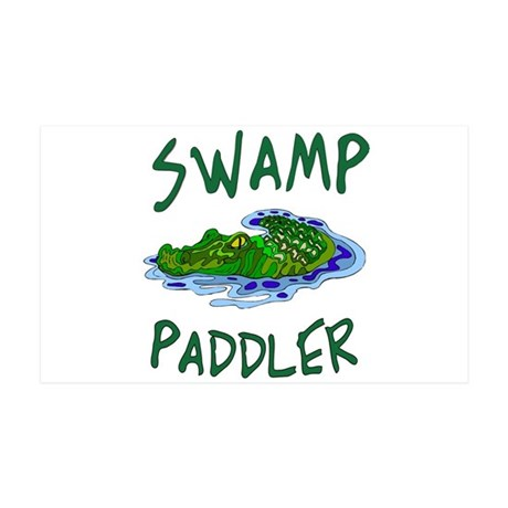 Swamp Paddler II 35x21 Wall Decal