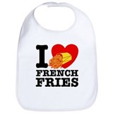 I Love French Fries Bib