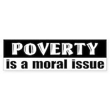 Poverty Bumper Bumper Sticker
