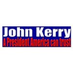 John Kerry - Trust Bumper Sticker
