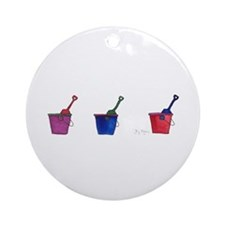 Buckets & Shovels Ornament (Round)