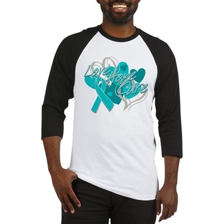 Ovarian Cancer Love Hope Cure Baseball Jersey