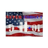 Never Forget 9-11-01 Rectangle Magnet (10 pack)