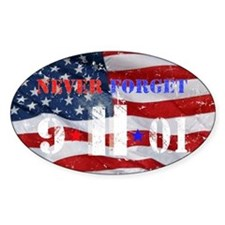 Never Forget 9-11-01 Decal