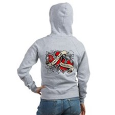 Brain Cancer Survivor Zip Hoodie