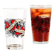 Brain Cancer Survivor Drinking Glass