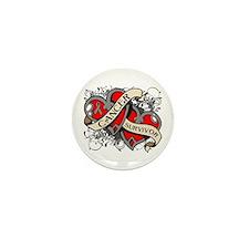 Brain Cancer Survivor Mini Button (10 pack)