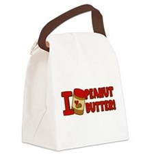 i-love-peanut-butter_tr.png Canvas Lunch Bag
