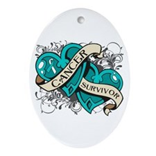 Cervical Cancer Survivor Ornament (Oval)