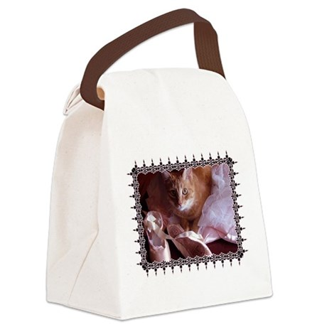 CAT-BALLET_TEE.png Canvas Lunch Bag