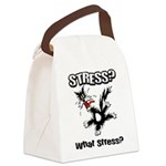 FIN-stress-cat... Canvas Lunch Bag