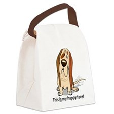 basset-hound-happy-... Canvas Lunch Bag
