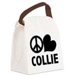 FIN-peace-love-collie.png Canvas Lunch Bag