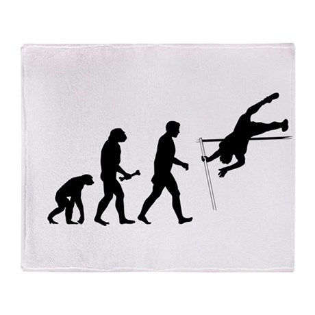 Pole Vaulter Evolution Throw Blanket