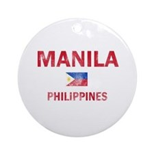 Manila Philippines Designs Ornament (Round)