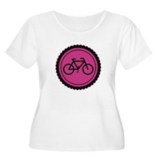 Cute Hot Pink and Black Bicycle T-Shirt