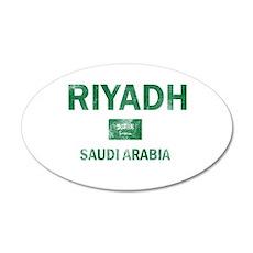 Riyadh Saudi Arabia Designs 20x12 Oval Wall Decal