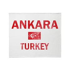 Ankara Turkey Designs Throw Blanket