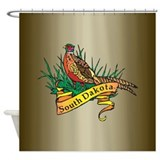 South Dakota Pheasant Shower Curtain