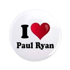 "I Heart Paul Ryan 3.5"" Button"