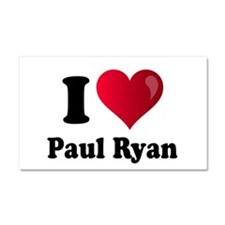 I Heart Paul Ryan Car Magnet 20 x 12