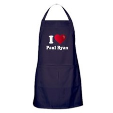 I Heart Paul Ryan Apron (dark)
