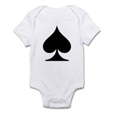 Spades Playing Card Symbol Infant Creeper