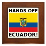 Hands off Ecuador! Framed Tile