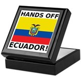 Hands off Ecuador! Keepsake Box