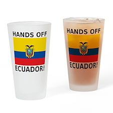 Hands off Ecuador! Drinking Glass