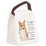 Sunshine Corgi Canvas Lunch Bag