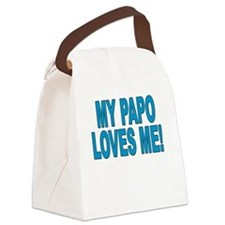 MY PAPO LOVES ME Canvas Lunch Bag