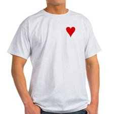 Hearts Playing Card Symbol Ash Grey T-Shirt