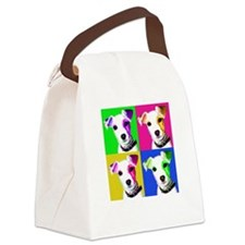 Jack Russell Pup Canvas Lunch Bag