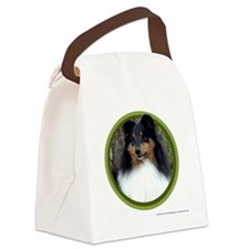 Tri-Color Sheltie Art Canvas Lunch Bag