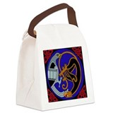 Celtic Bird & Cat Canvas Lunch Bag