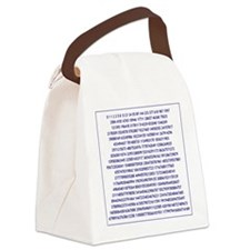 fibonacci #2 Canvas Lunch Bag