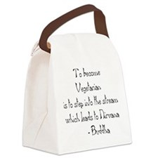 Vegetarian Canvas Lunch Bag