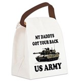 My Daddys Got Your Back Army Tank Canvas Lunch Bag