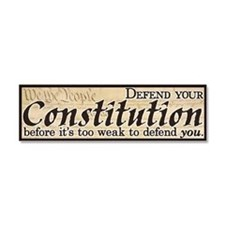 Defend your Constitution! Car Magnet 10 x 3