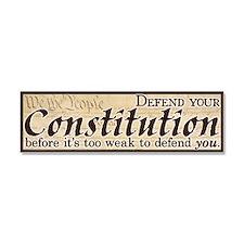 Defend your Constitution! Car Magnet 10 x 3