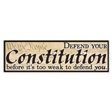Defend your Constitution! Bumper Stickers