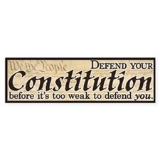 Defend your Constitution! Car Sticker
