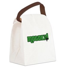 Boy MotoKid Canvas Lunch Bag